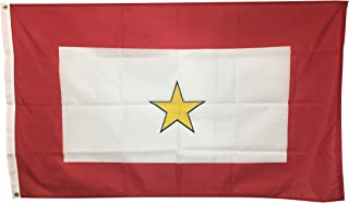 product image for 3x5' 1 Gold Star Service Star Mothers Flag, All Weather Nylon for Outdoor, Made in USA
