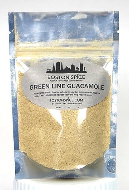 Boston Spice Línea Verde guacamole la Mezcla Para Aguacates para hacer salsas y pastas para untar