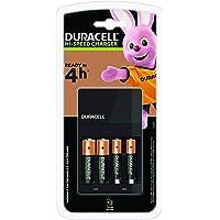 Duracell CEF14 batterijlader voor 4 uur, incl. oplaadbare batterijen, 2 AA + 2 AAA