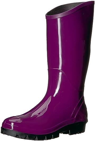 Columbia Women's Rainey Tall Rain Shoe, Dark Raspberry, Black, 8 Regular US