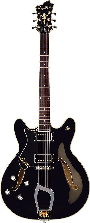 Guitarra eléctrica hagstorm viking/zurdos - negra: Amazon.es ...