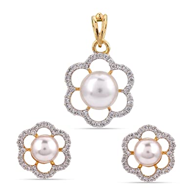 c3c98f6a385e4 Buy Tistabene Retails Modern Pearl Gold Plated Designer Ad American ...