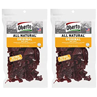 Oberto All-Natural Original Beef Jerky, 9 Ounce (Pack of 2)