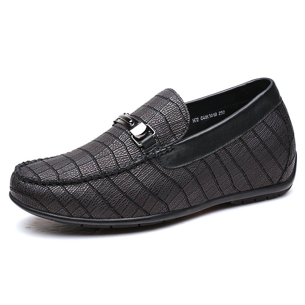 CHAMARIPA Business Casual Herren Houml;here Schuhe Houml;he Erhouml;hung Loafer Schuhe mit Ferse Lift-2,36/6cm Taller-H72C40K102D  42|Black