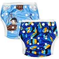 ALVABABY Swim Diaper Large Size Reuseable Washable Adustable Swim Diapers 2 Pack ZSW03-04-CA