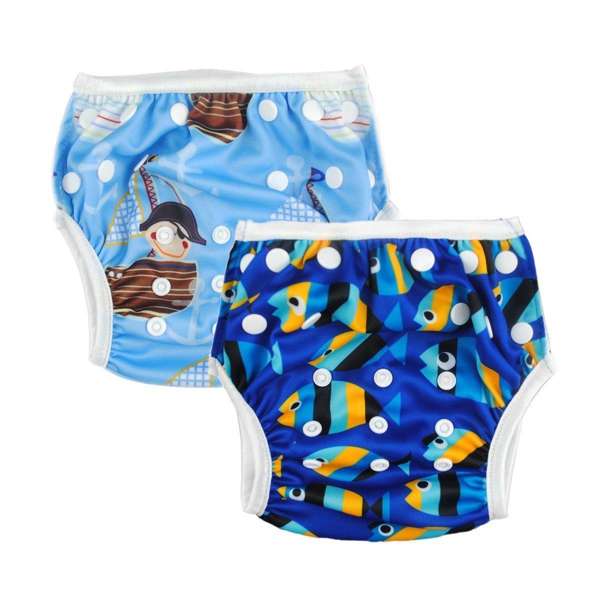 Alva Baby 2pcs Pack Big One Size Reuseable Washable Swim Diapers ZSW03-04 Alvababy ZSW03-04-347