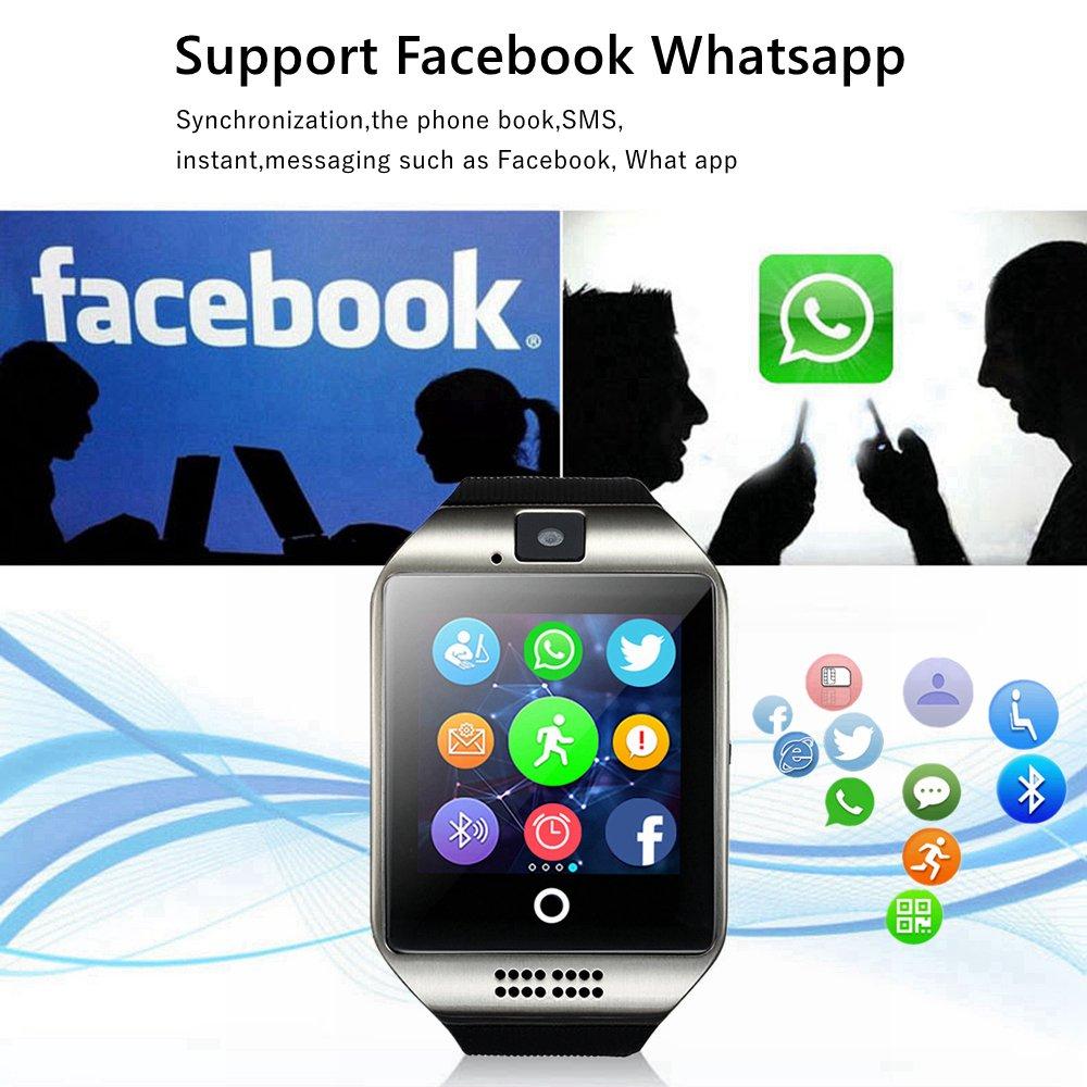 TagoBee El Reloj Inteligente Bluetooth TB02 con Tarjeta SIM es Compatible con Whatsapp Notificación Compatible con Todos los teléfonos Android y iPhone ...