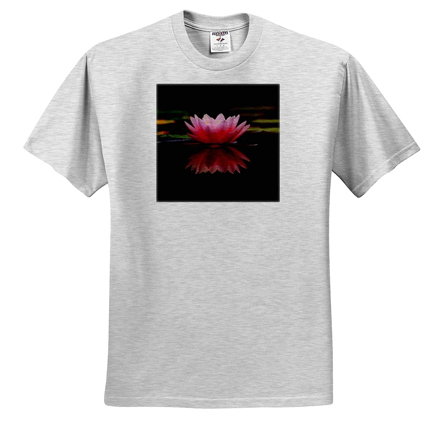 Adult T-Shirt XL ts/_314202 Lotus Reflection 3dRose Cassie Peters Floral