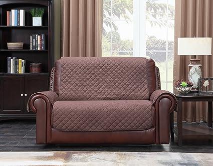 Amazon.com: Home Queen - Funda de sofá de piel prémium para ...
