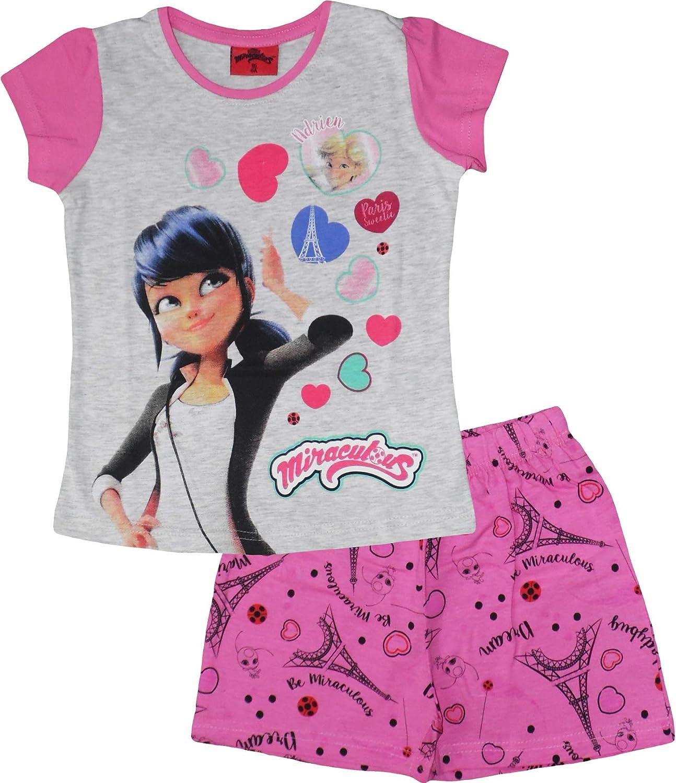 Miraculous Ladybug M/ädchen Sommer Short Pyjamas