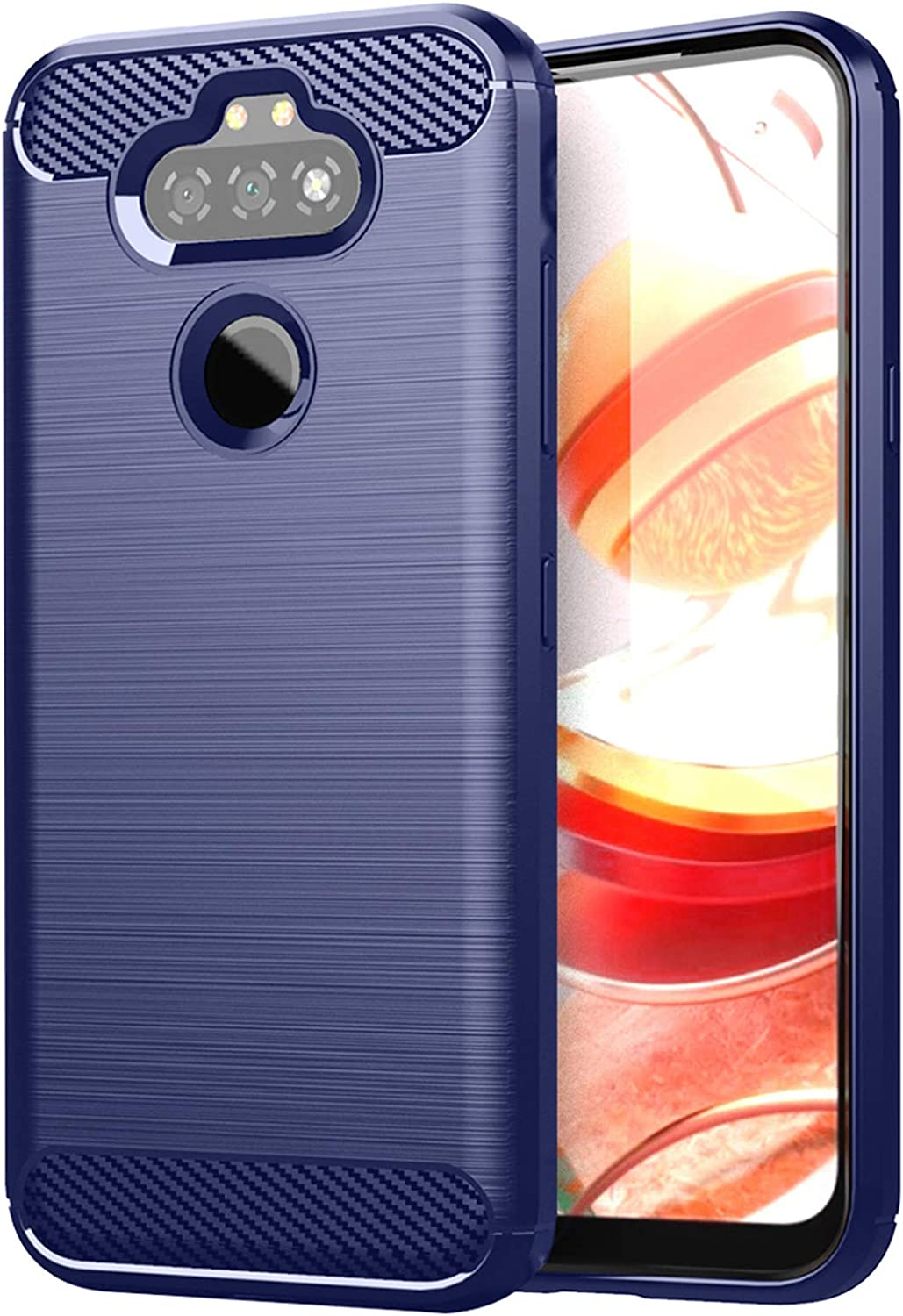 GSDCB Compatible with LG Aristo 5 Case, LG Aristo 5 Plus Case, LG K31 Case, LG Risio 4 Case, LG Phoenix 5 Case, LG Fortune 3 Case, LG K8X Case, Shockproof Phone Case with Soft TPU Slim Fit (Navy Blue)