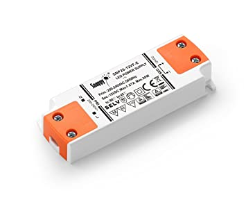 LIGHTEU, fuente de alimentación del transformador LED - 20W, 12V DC, 1.67A