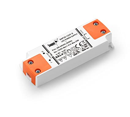LIGHTEU, fuente de alimentación del transformador LED - 20W, 12V DC, 1.67A