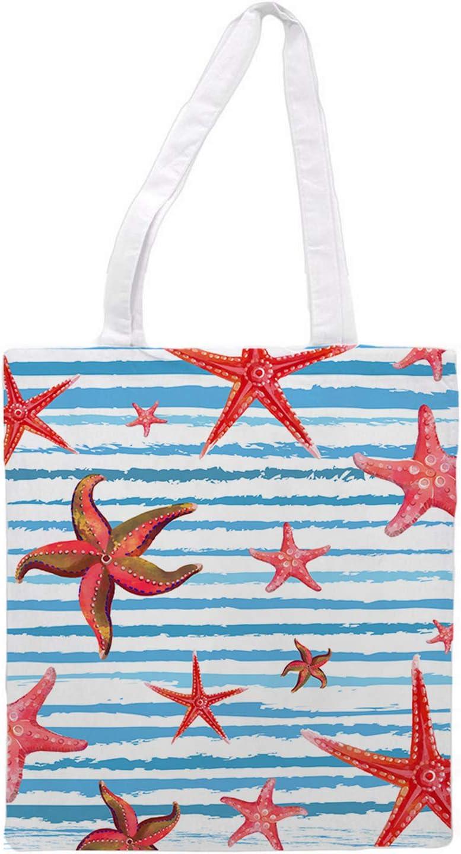 Womens Tote bag - Sea star - Sports Gym Lunch Yoga Shopping Travel Bag Washable - 1.47X0.98 Ft