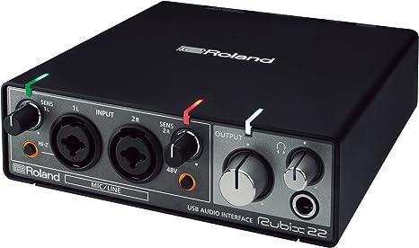 Roland rubix22 luz orientable en riel Rubix 22 USB interfaz ...