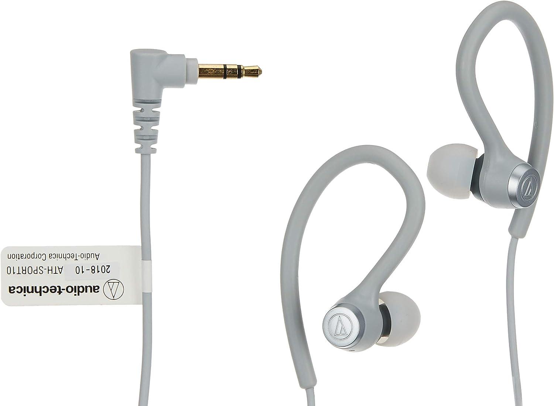 Audio Technica Ath Sport10gy Sport In Ear Headphones Grau Musikinstrumente