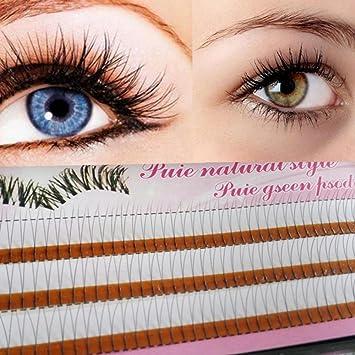 4dc25635439 Image Unavailable. Image not available for. Color: Aiweikang New Natural  Handmade Knot-Free Flares Eye Lash Extensions Makeup Tool False Fake  Eyelashes