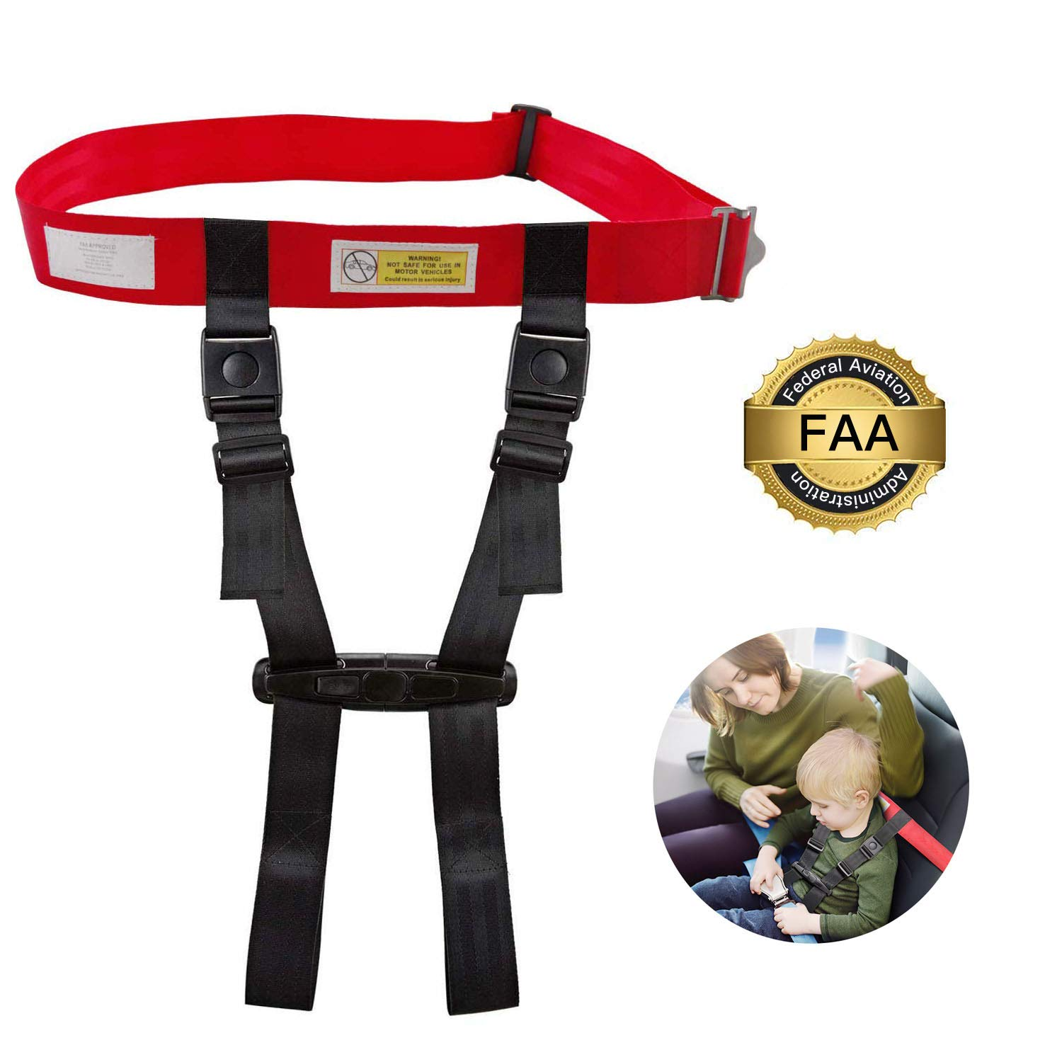 Ottolives Child Airplane Travel Safety Harness Approved by FAA, Clip Strap Restraint System with Safe Airplane Cares Restraining Fly Travel Plane for Toddler Kids Child Infant