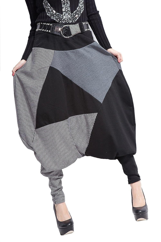 Taiycyxgan Women Baggy Harem Drawstring Adjustable Length Pants Trousers Onesize