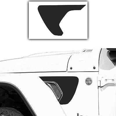 Bogar Tech Designs - Precut Side Fender Vent Solid Vinyl Decal Compatible with Jeep Wrangler JL 2020, Matte Black: Automotive