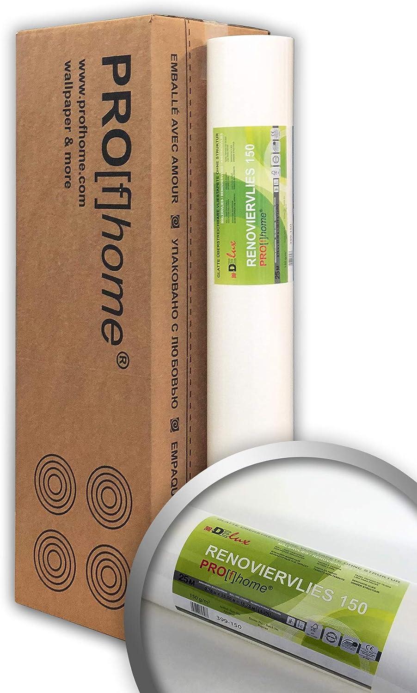 5x papier peint 50 mâ² Fibre Toile redécorerai peinture peintre lisse blanc 50x1m 130g//m²
