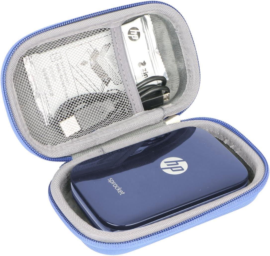 Hard Travel Case for HP Sprocket Portable Photo Printer by co2CREA (Blue)