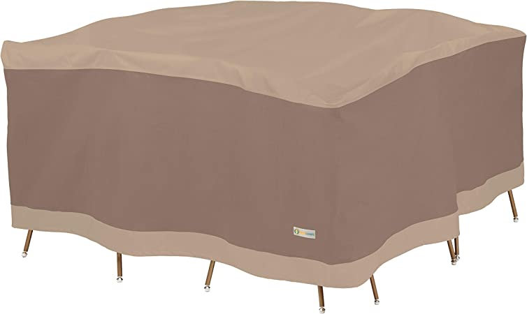 92-Inch Duck Covers Ultimate Square Patio Table with Chairs Cover