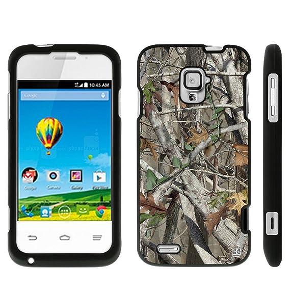 the best attitude 9e7e0 788e1 Protective Case For ZTE Rapido LTE Z932L Slim Two Piece Snap On Case Hard  Plastic Rubberize Feel Autumn Camouflage
