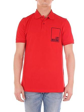 Love Moschino Luxury Fashion Hombre M830411E1809O81 Rojo Polo ...