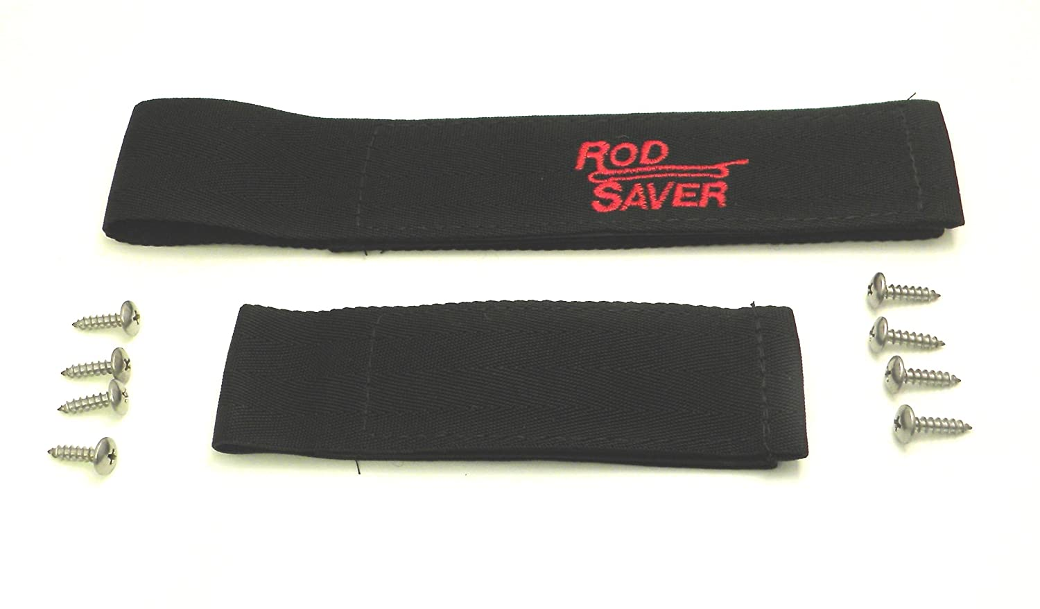 Black Finish EB-5500255 Rod Saver 10//6RS Original Marine Rod Saver Set with 10-Inch and 6-Inch Straps 2-Pieces