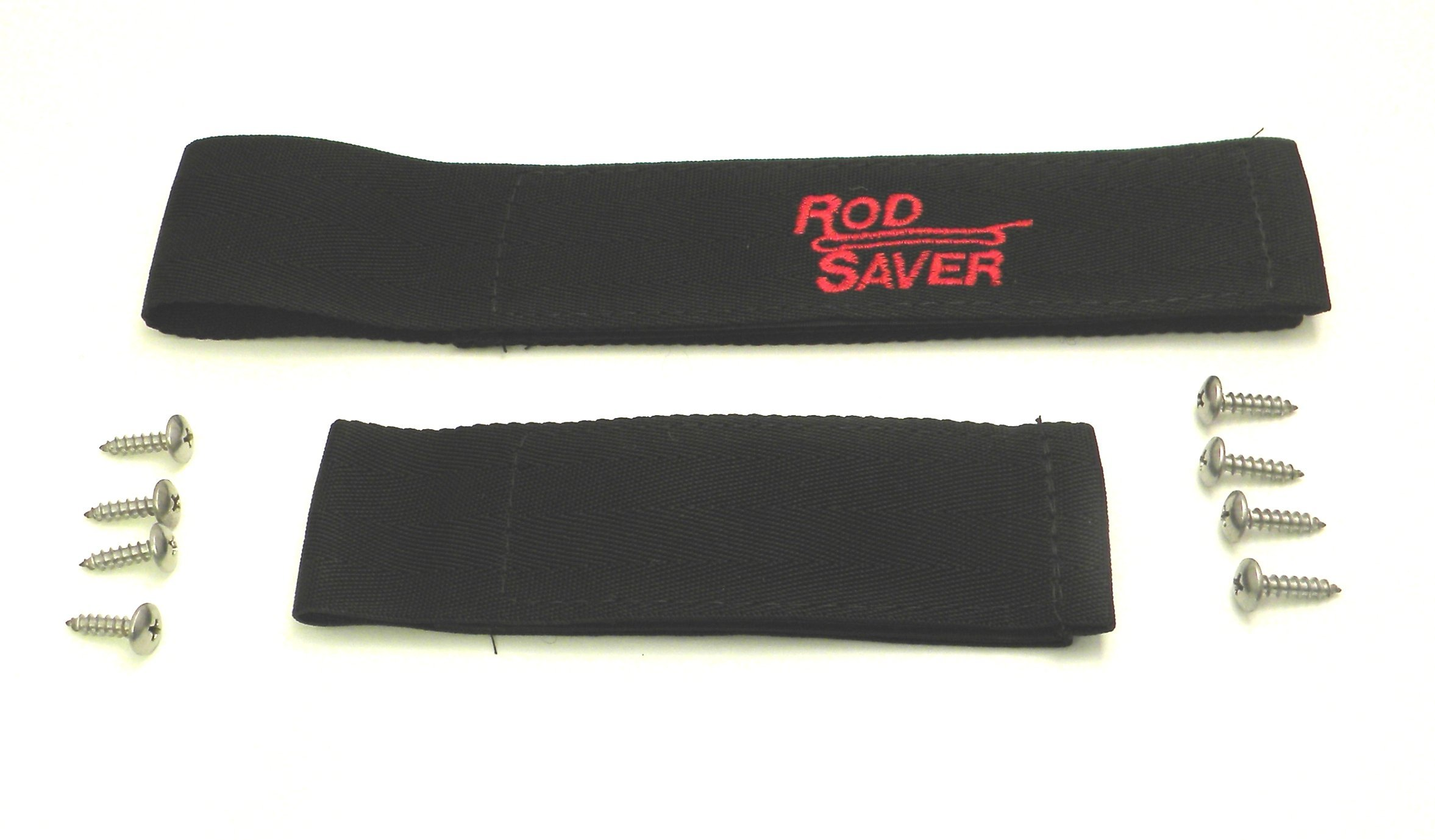 Rod Saver 10/6RS Original Marine Set with 10-Inch and 6-Inch Straps, 2-Pieces, Black Finish