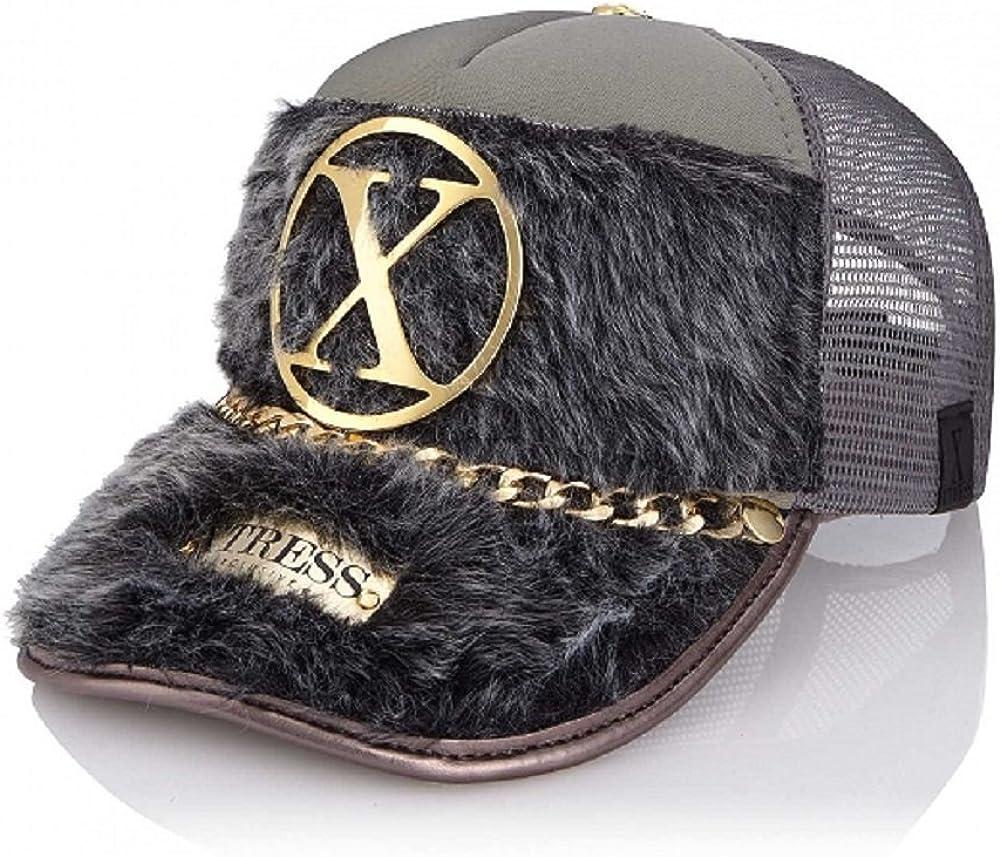 Xtress Exclusive Gorra de diseño en pelo gris para hombre y mujer ...