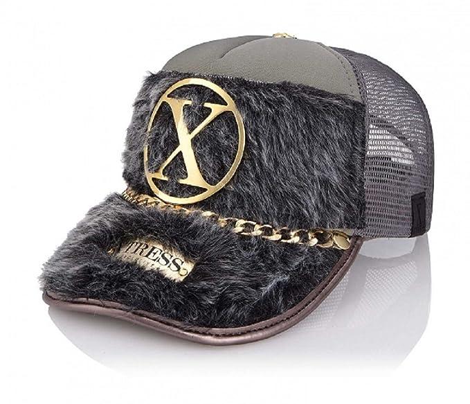 Xtress Exclusive Gorra de diseño en pelo gris para hombre y mujer: Amazon.es: Ropa y accesorios