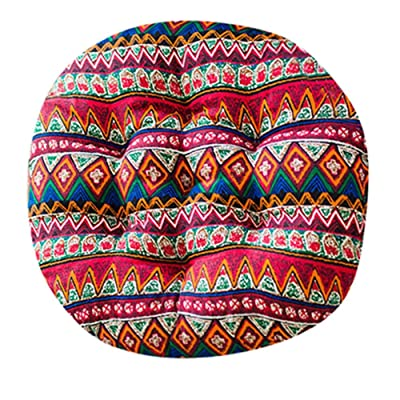Comfort Chair Cushion Round Chair Pads Soft Thicken Seat Pads Pillow for Office, Home, Sofa, Car Sitting, Patio, Garden, Dinning Chair Cushion Mat, 15.74 X 15.74 X 1.96inch (Boho Pattern)