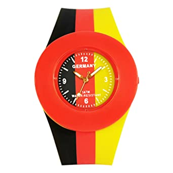 ELLEMKA® - aMaZe-324 Reloj analógico Alemania con movimiento de cuarzo digital