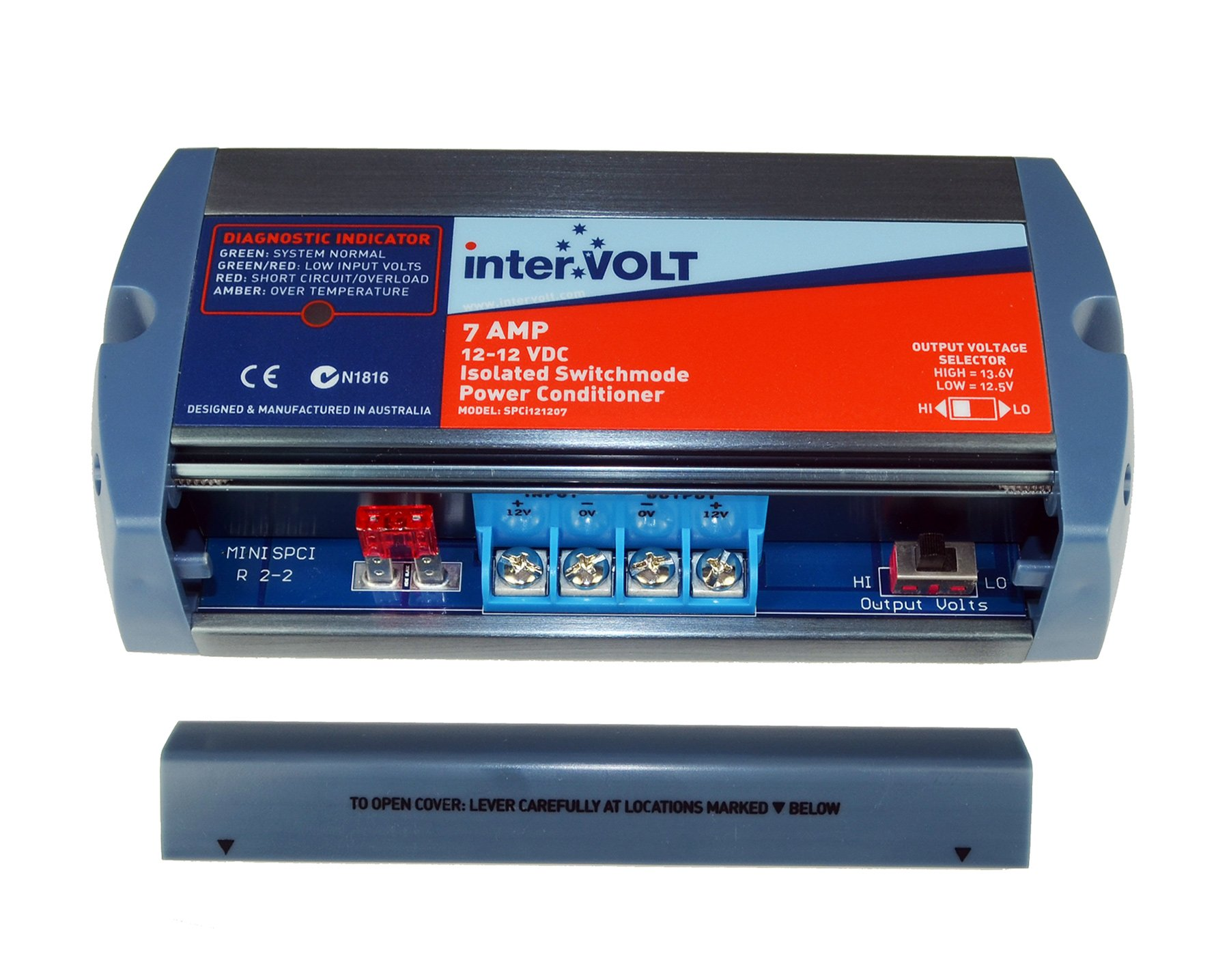 interVOLT Heavy Duty 7 Amp 12V DC-DC Isolated Voltage Stabilizer / Regulator / Power Conditioner / Battery Charger (10-16 VDC Input - 12.5 or 13.6 VDC Output) Model SPCi121207 by interVOLT (Image #3)