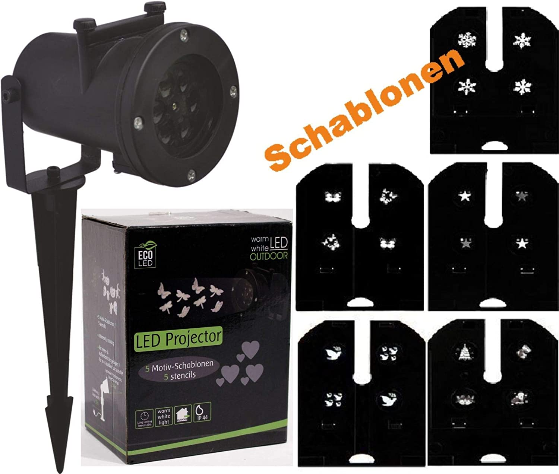LED Proyector Blanco Cálido 5 Plantillas Luz Lámpara de Navidad ...