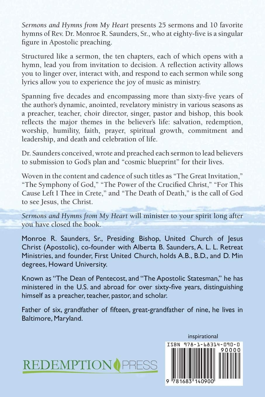 Sermons and Hymns from My Heart: Sr Bishop Monroe R Saunders
