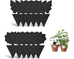 Sticky Fly Trap and Fungus Gnat Traps Killer for White Flies, Mosquitos, Fungus Gnats, Other Flying Insects, Kitchen Indoor a