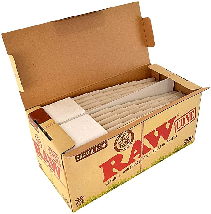 AUTHENTIC Raw Rolling Paper Pre-Rolled Organic Cones King Size 32 Cones
