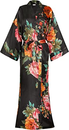 Spa Day Gray Wedding Set Floral Kaftan Knee Length Robe Wedding Set Hawaiian Robe Kimono Dress Bride Crew Set Fall Bridesmaid Robe