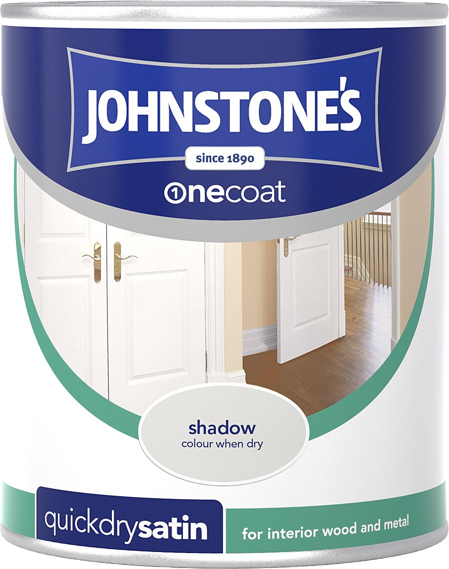 Johnstone's 307076 750ml One Coat Quick Dry Satin Paint - Urban Sky PPG Architectural Coatings UK & Ireland