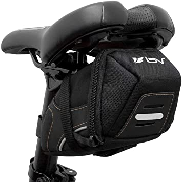AmazonBasics Strap-On Wedge Saddle Bag for Cycling