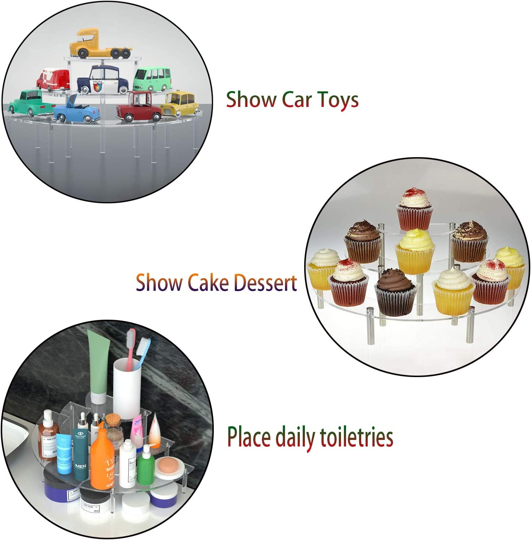 Bluesees Cupcake-St/änder aus Acryl 3-st/öckig Halbmond-Form transparentes Acryl Dessert- und Bakerie-St/änder f/ür Hochzeit Geburtstag Cupcake-Dessert-Ablage Party-Dekoration