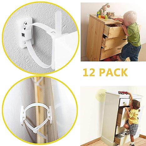 Amazon.com: Tiras para muebles a prueba de bebés, antipuntas ...