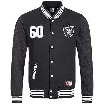 Majestic Oakland Raiders Lutkin Letterman NFL chaqueta de fútbol americano, A6ORA6509BLK001: Amazon.es: Deportes y aire libre