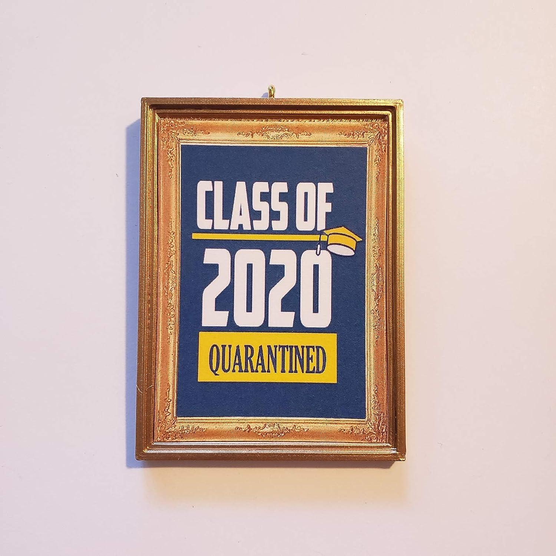 Amazon Com Class Of 2020 Quarantined Senior Graduation Cap Christmas Tree Ornament Covid 19 Coronavirus Corona Virus Handmade