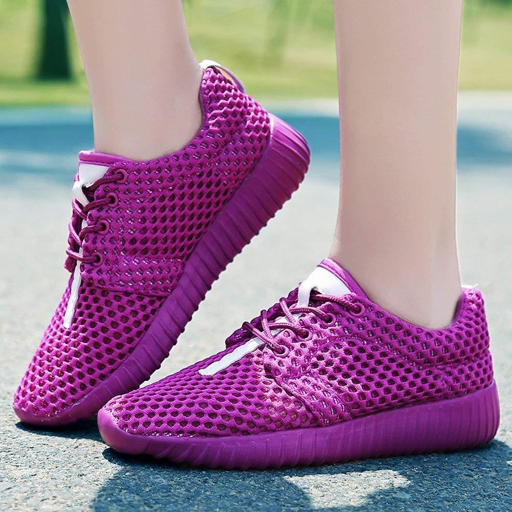 Oudan Breathable im Freien Freizeit Schuhe Reine Reine Reine Farbe Mesh Schuhe Erhöht Mode Frauen Schuhe (Farbe   Rosa Größe   39) 8857b6