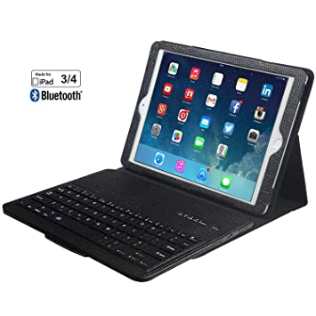 eoso - Funda de Piel sintética para iPad 3 y 4 (Incluye ...