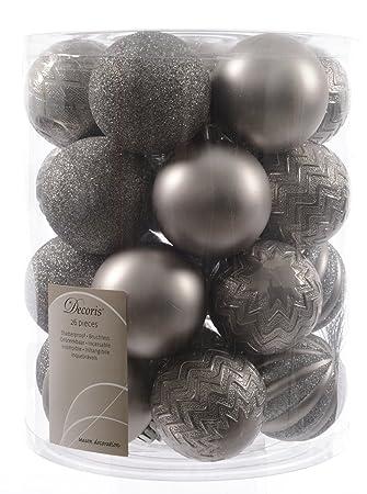 Christbaumkugeln Grau.26 Christbaumkugeln Grau Grey Mix 6 Cm 26 Stuck 6fach